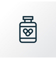 drugs icon line symbol premium quality isolated vector image