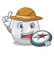 explorer plastic bag mascot cartoon vector image vector image