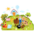 Farm cartoon vector image vector image