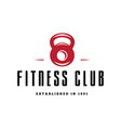 fitness emblems signs labels badges logos and vector image vector image