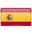 Flags Spain in the form of a magnet on vector image vector image