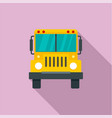 front of school bus icon flat style vector image vector image