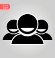 group people person icon friends sign round vector image