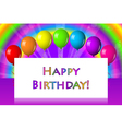Happy birthday frame with balloons vector image vector image