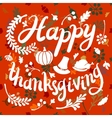 happy Thanksgiving day leaves banner vector image vector image