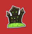 haunted house and full moon with ghosthorror vector image vector image