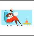 home office workplace desk flat male modern vector image vector image