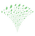 leaf branch fountain stream vector image