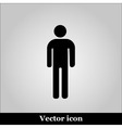 Man flat icon on grey background vector image vector image
