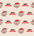 merry christmas pork bacon pig theme cartoon vector image vector image