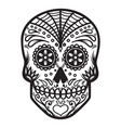 mexican sugar skull day of the dead dia de los vector image vector image