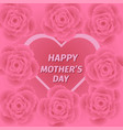 mom s day greeting poster design rose flower vector image vector image