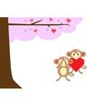 monkeyinlove4 vector image