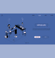 office life - line design style isometric web vector image