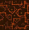 orange rhombuses and squares in intersection with vector image vector image