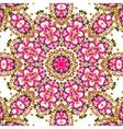 Pink coloured mandala like design seamless vector image vector image