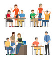 productive office team work on fresh start ups set vector image vector image