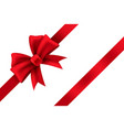 red satin gift bow package holiday vector image vector image