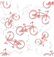 Red sport bike Ornament Patterned Design Element vector image