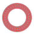round ornamental red colored frame isolated on vector image vector image