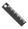 ruler solid icon education and school vector image vector image