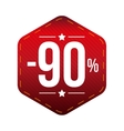 Sale ninety percent off banner red patch vector image vector image