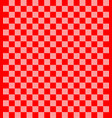 seamless cloth fabric pattern red gingham vector image