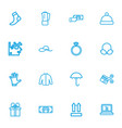 set of 16 editable shopping outline icons vector image vector image