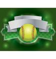 softball banner vector image vector image