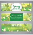 spring banner bokeh design beautiful vector image