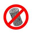 stop log sign wooden billet ban road red vector image vector image