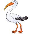 stork cartoon vector image vector image