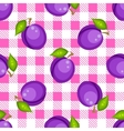 Tartan plaid with plums seamless pattern vector image vector image