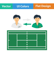 Tennis side changing icon vector image