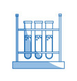 test tube rack laboratory chemistry equipment vector image vector image
