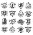 vintage monochrome gentleman logos set vector image