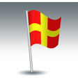 waving maritime signal flag r romeo