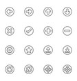 web icon sets line icons vector image vector image