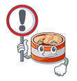 with sign canned tuna isolated with in mascot vector image vector image