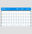 yearly wall calendar planner template for 2017 vector image vector image