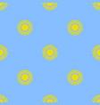 yellow sun seamless pattern vector image