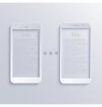 modern light smartphones icons vector image