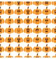 seamless pattern of pumpkins vector image