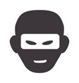 thief with mask dangerous symbol vector image