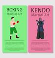 asian martial arts boxing and kendo vector image
