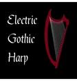 Harp gothic vector image