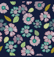 a fun floral repeat print pattern in vector image vector image