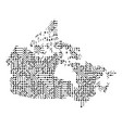 abstract schematic map of canada from the black vector image vector image