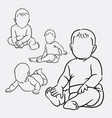 baby action hand drawing style vector image vector image