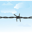 Barbed wire seamless vector image vector image